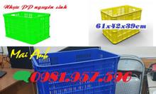 Sọt nhựa đựng hàng may mặc, sọt nhựa cao 39cm, sọt Hs005