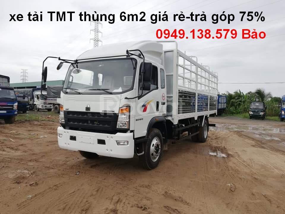 Xe tải TMT Howo 7t5 thùng mui bạt, xe tmt 7,5tấn trả góp giá rẻ