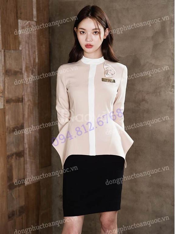 Nhận may đồng phục lễ tân đẹp cho nhà hàng khách sạn, giá tốt  (ảnh 3)