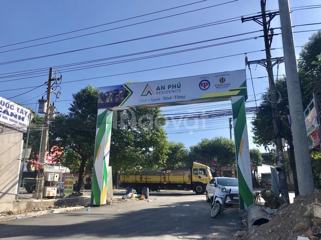 Đất thành phố Thuận An, hai mặt tiền đường nhà nước, sổ riêng.