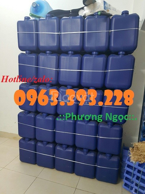 Can nhựa vuông dày 20L, can nhựa HDPE