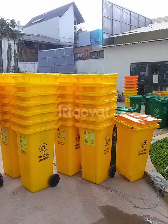 Địa chỉ  giảm giá thùng đựng rác dung tích 120 lit có bánh cao xe đẩy
