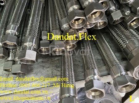 Ống mềm inox chịu nhiệt có lưới bọc - khớp nối mềm inox lắp ren