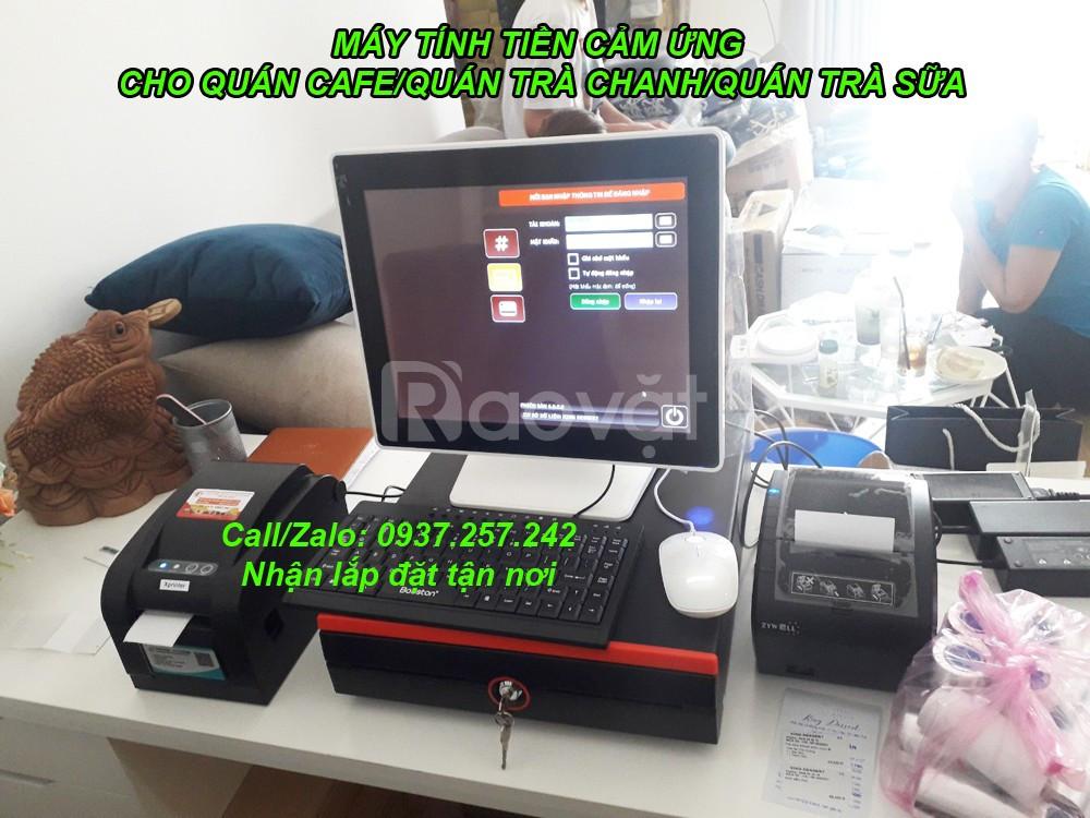 Máy cảm ứng tính tiền cho quán trà sữa, quán trà chanh tại Hà Nội