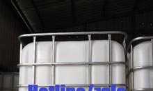 Thùng nhựa ibc 1000l; ibc tank 1000l có khung thép