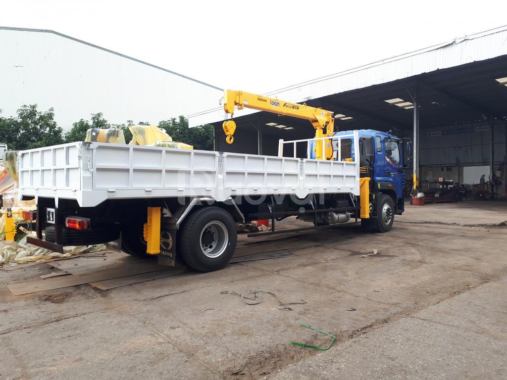 Bán xe cẩu tự hành 9 tấn Thaco Auman C160 Hải Phòng