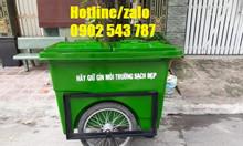 Thùng rác 660l composite, thùng rác bánh hơi 660l giá rẻ