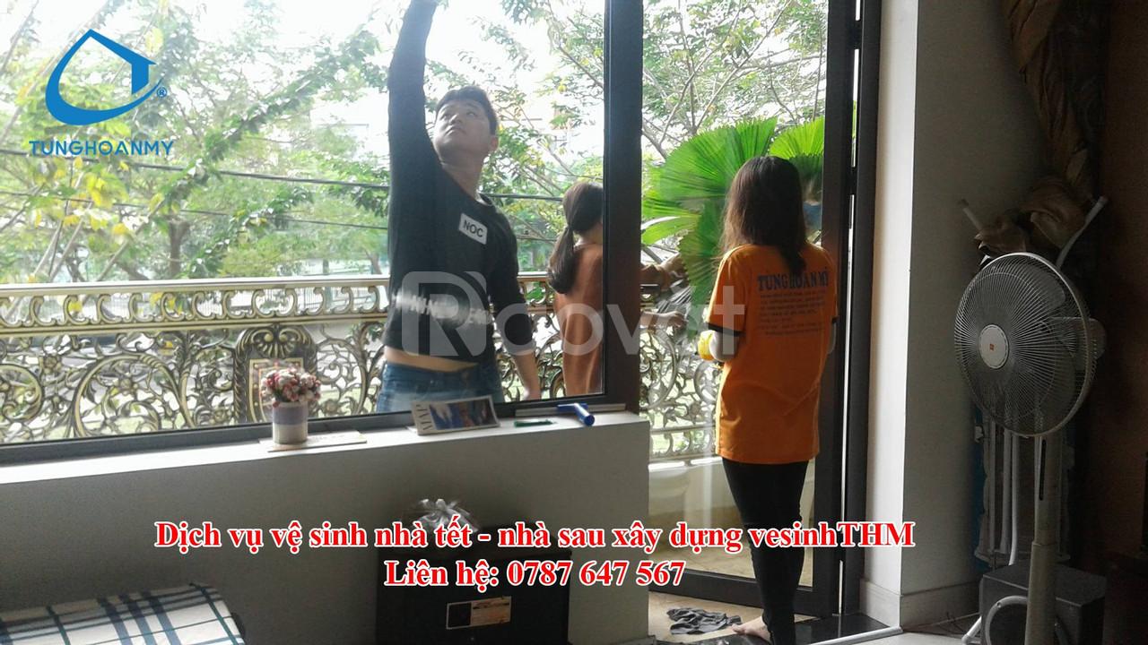 Dọn vệ sinh nhà sau xây dựng tại Đà Nẵng
