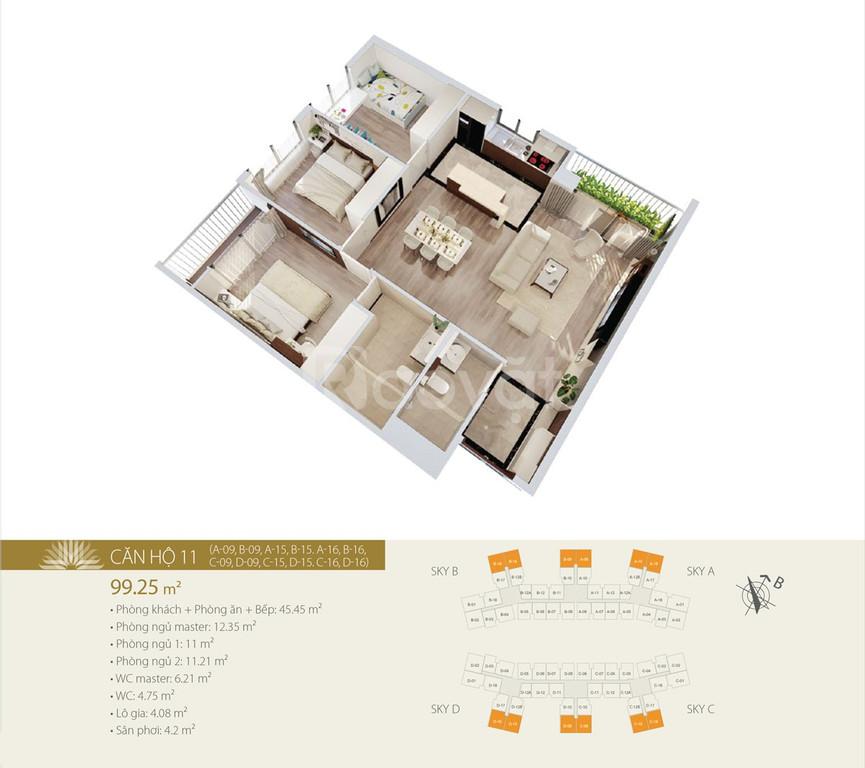 Căn 3PN nhận nhà ở ngay Imperia Sky Garden 423 Minh Khai, CK 5%, LS 0% (ảnh 3)