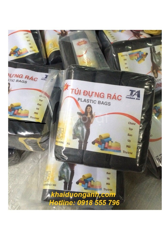 Bán bao rác cuộn 3 màu hoặc đen tại Kiên Giang