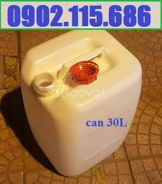 Can 30l đựng hóa chất, can 30l nhựa HDPE