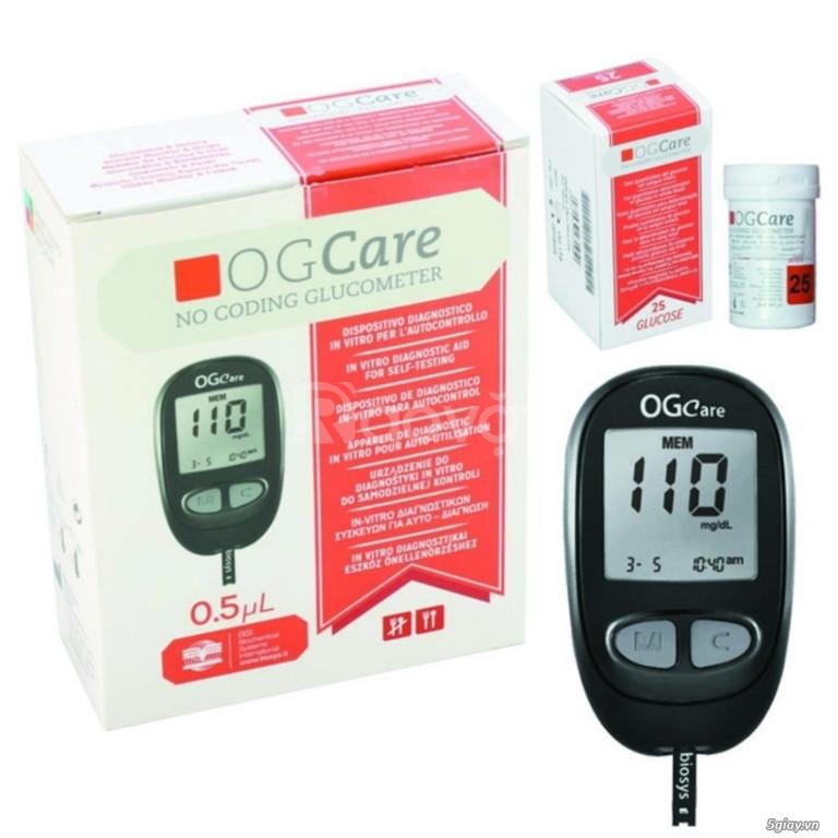 Máy đo đường huyết OGCare, tặng 2 hộp que thử 50 test