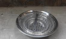 Bếp nướng than hoa âm bàn giá rẻ chất liệu vỉ inox 304 cho quán nướng