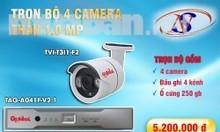 Trọn bộ 8 camera Global full HD 2.0M bảo hành 2 năm