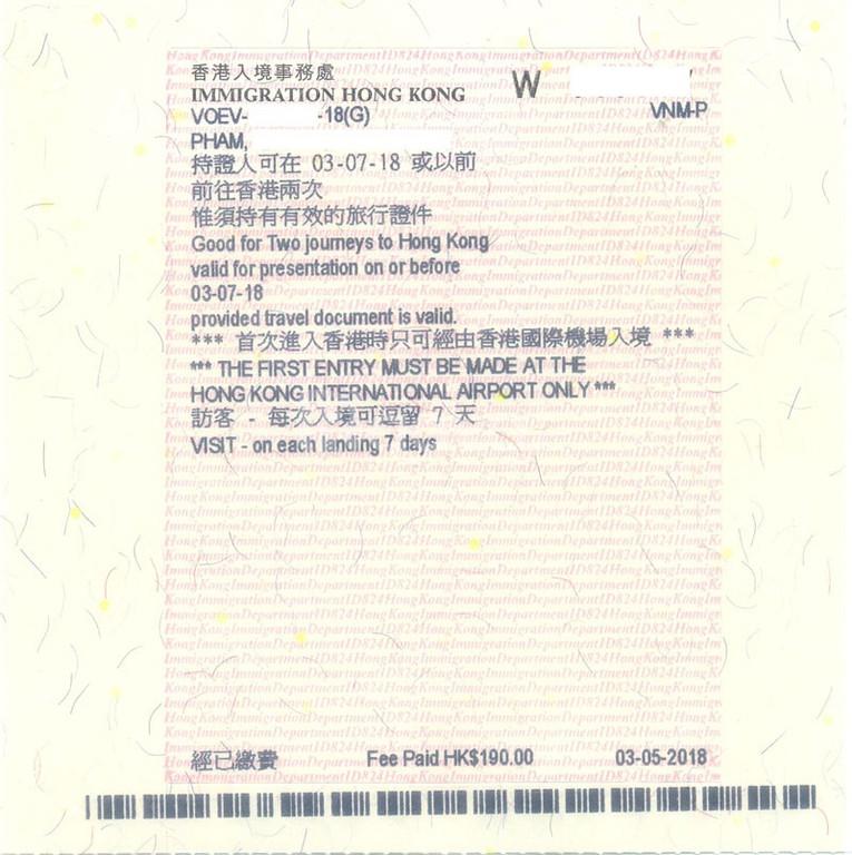 Dịch vụ làm visa Hong Kong tại TPHCM uy tín