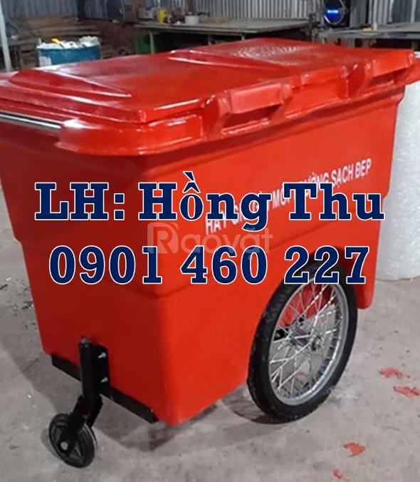 Xe đẩy rác 660 lít giá rẻ, xe thu gom rác 1000 lít HDPE quận 10