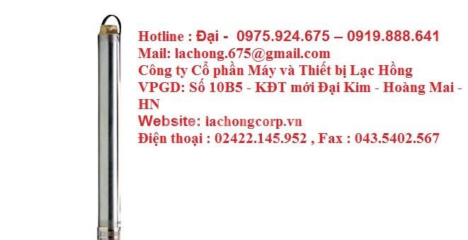 Bơm chìm giếng khoan Pentax 4S(L) 11kw, 15kw, 18.5kw, 22kw