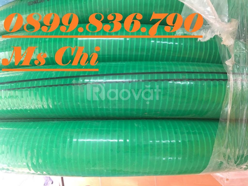 Ống nhựa lõi thép màu xanh dẫn chất thải môi trường
