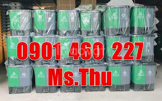 Thùng rác 2 ngăn nhựa, thùng rác 3 ngăn giá bao nhiêu