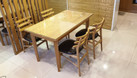 Thanh lý bộ bàn ghế ăn gỗ tự nhiên, còn mới, đẹp (ảnh 4)