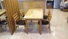 Thanh lý bộ bàn ghế ăn gỗ tự nhiên, còn mới, đẹp (ảnh 1)