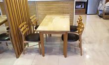 Thanh lý bộ bàn ghế ăn gỗ tự nhiên, còn mới, đẹp
