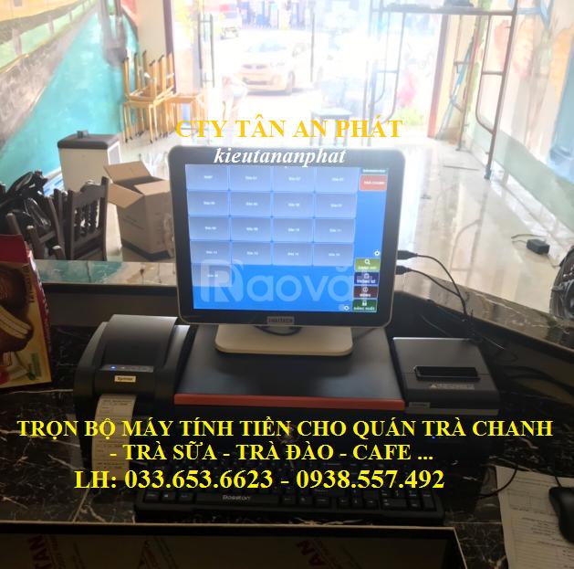 Máy tính tiền cho quán trà sữa, trà chanh tại Bình Dương