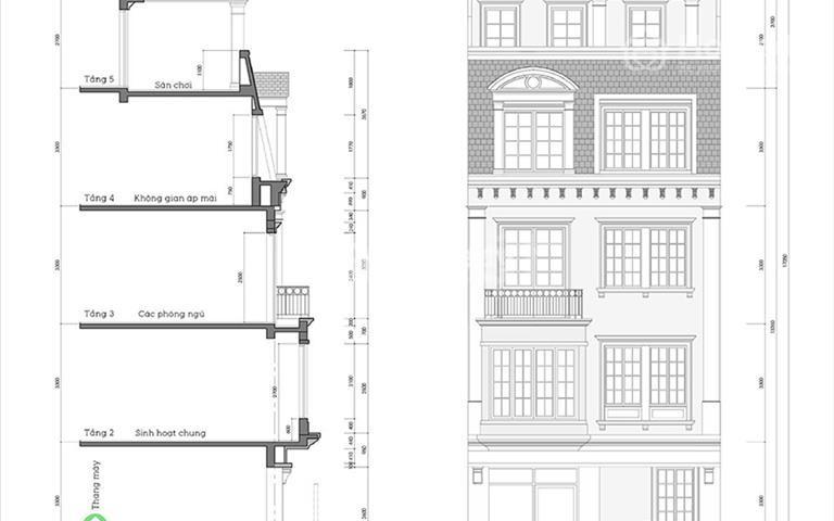 Nhà liền kề quận Đống Đa xây 5 tầng ký trực tiếp CĐT