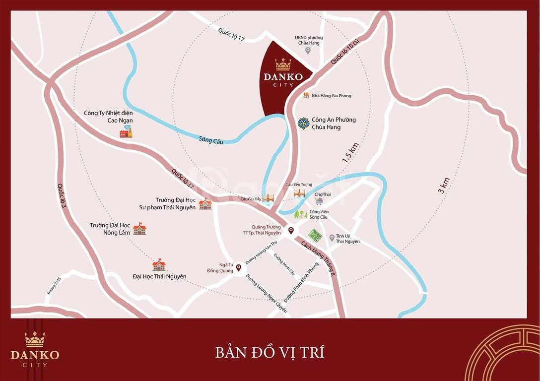 Đất nền Danko city - gần trung tâm tp thái nguyên