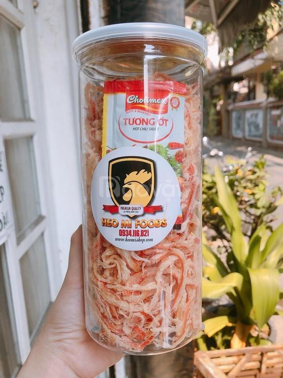 Mực khô xé sợi hấp nước dừa (ảnh 4)