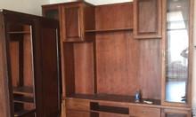 Tủ kệ tivi gỗ kết hợp kệ trưng bày rượu KTV - 169