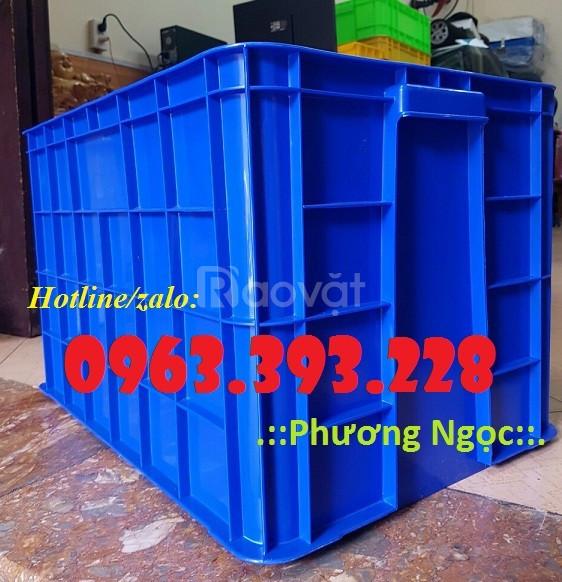 Thùng nhựa đặc cao 39, thùng nhựa đựng nông sản