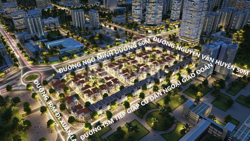 Mặt bằng kinh doanh 4 tầng ngã tư Nguyễn Văn Huyên kéo dài.