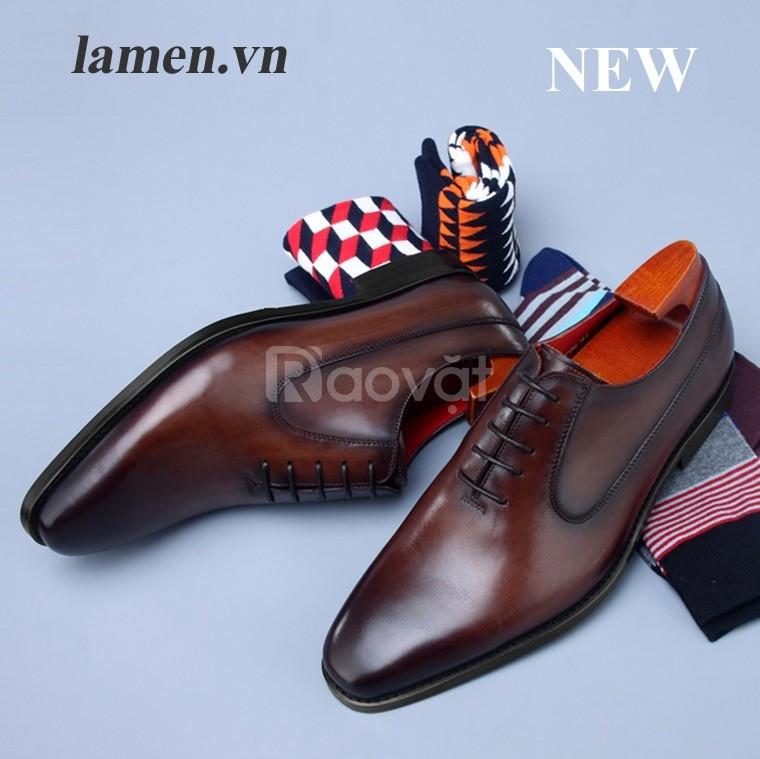 Giày Oxford,giày cưới cao cấp hiệu Lamen (ảnh 4)