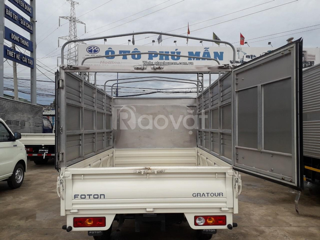 Xe tải foton gratour 1.5l mui bạt 850kg thùng dài 2m3