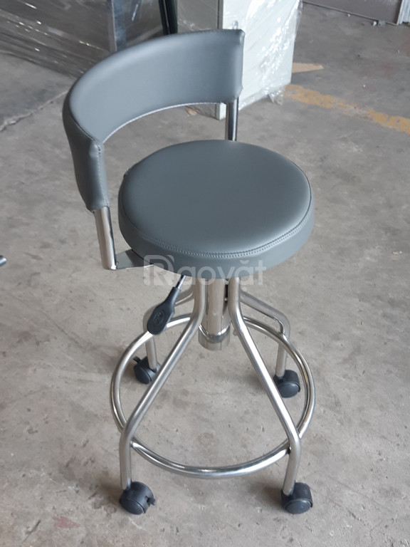 Ghế xoay inox bọc đệm cho phòng thí nghiệm, bệnh viện giá sỉ