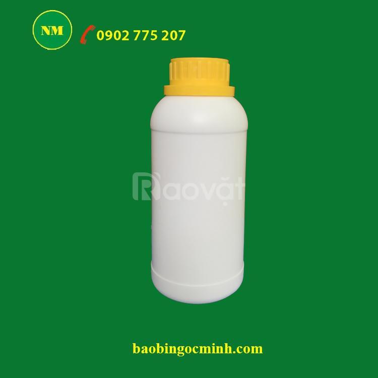 Chai nhựa 500ml đựng phân bón, hóa chất, chất lỏng, dung môi