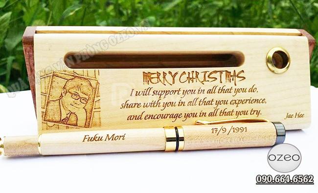 Bút gỗ khắc chữ theo yêu cầu giá rẻ Gò Vấp
