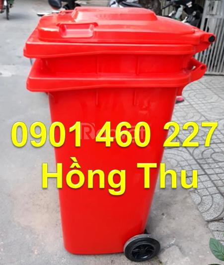 Thùng rác công viên 120 lít, thùng rác đạp chân 240 lít màu vàng