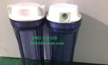 Ly lọc nhựa trong 10 inch dễ quan sát lõi bên trong lọc cặn cho nước
