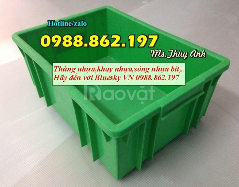 Thùng nhựa giá rẻ B3, khay nhựa hà nội B3, thùng nhựa màu xanh lá