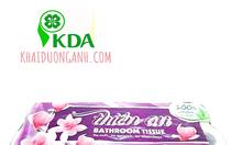 Giấy vệ sinh cuộn nhỏ 3 lớp Thiên An, giấy vệ sinh lụa cao cấp