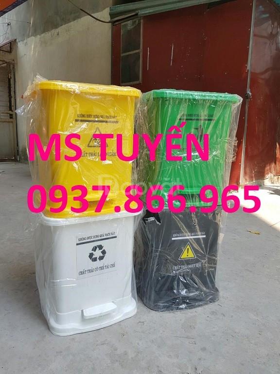 Thùng rác nhựa, thùng rác y tế giá rẻ liên hệ