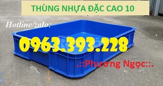 Thùng nhựa đặc cao 10, thùng nhựa đựng linh kiện (ảnh 1)