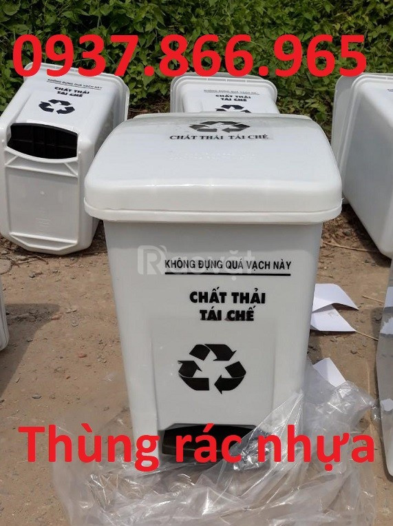 Thùng rác nhựa, thùng rác 15L giá rẻ liên hệ