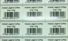 Giấy in ấn nhãn mã vạch 3 tem trên hàng 35 x22mm