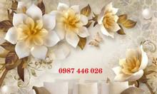 Tranh gạch ốp tường hoa