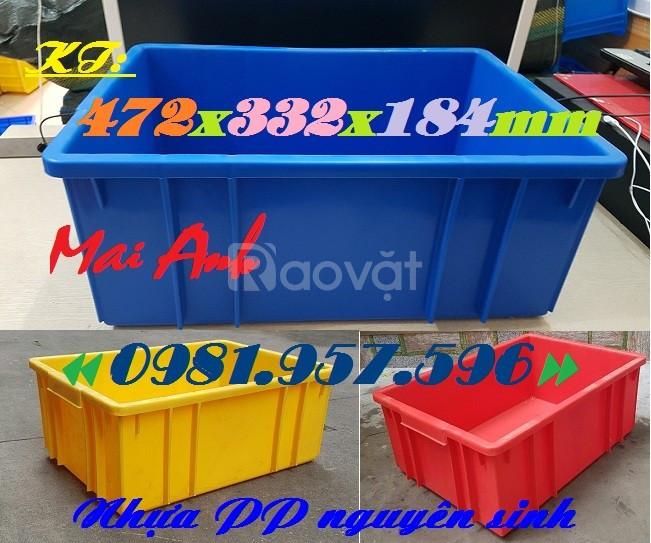 Sóng nhựa bít, thùng nhựa đặc, thùng B3, hộp nhựa đựng linh kiện