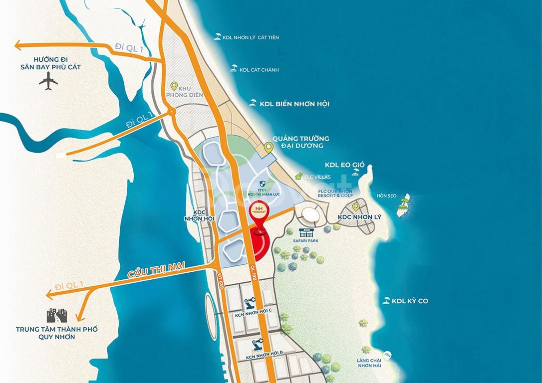 Đất nền sổ đỏ lâu dài - Nhơn Hội New City FLC Quy Nhơn