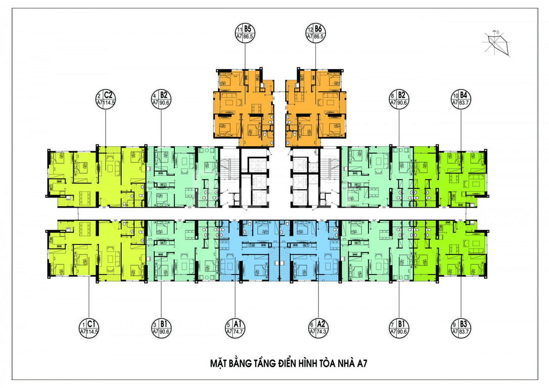 Căn hộ số 01 tòa A3, tầng thấp chung cư An Bình City